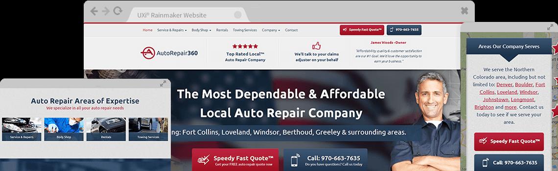 Auto Repair Website Templates - Mobile Responsive Auto Repair Websites