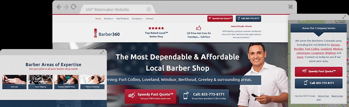 barber shop website
