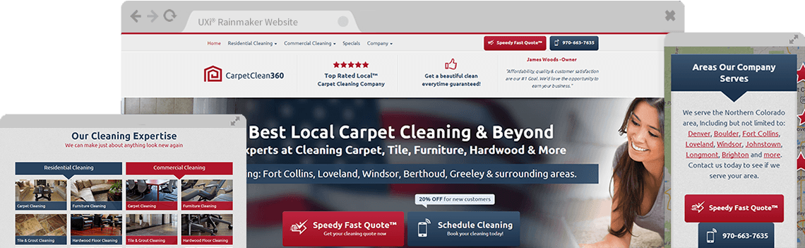 Carpet Cleaning Website Templates Mobile Responsive Designs - Best tile design websites