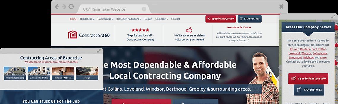 Contractor Website Templates Mobile Responsive Designs