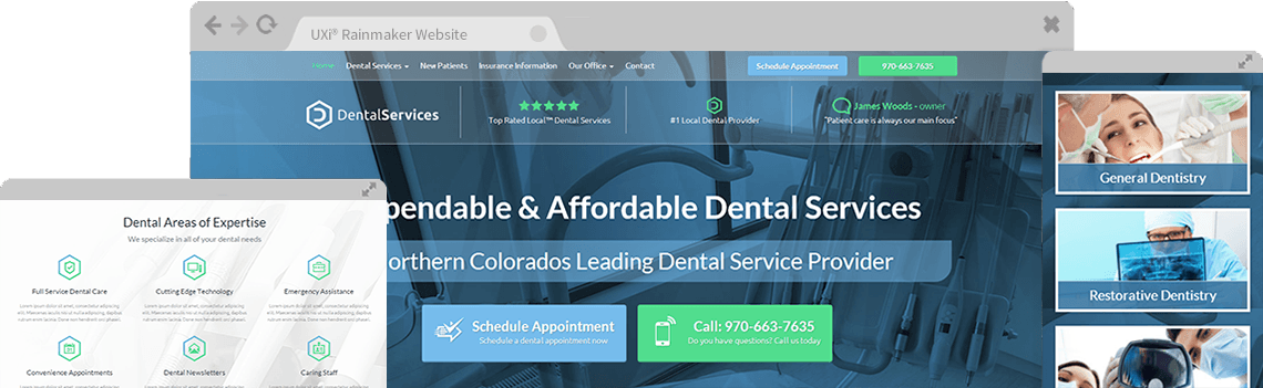 Dental website templates mobile responsive web design for dentists with user experience intelligence you get simply the best dentist websites ever designed solutioingenieria Choice Image