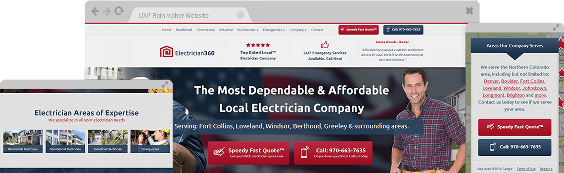 Electrician Websites Templates - Mobile Responsive Designs