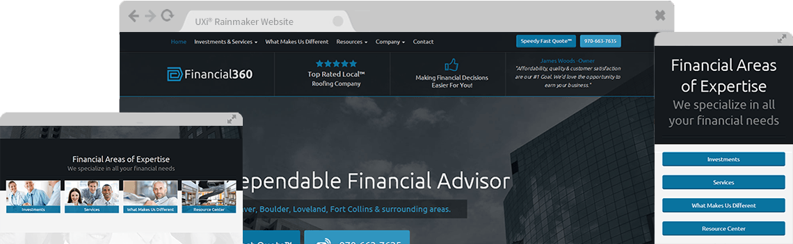 1 Financial Advisor Websites Templates Are UXi® Rainmaker ...