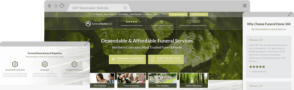 Funeral home website templates mobile responsive designs - Funeral home web design ...