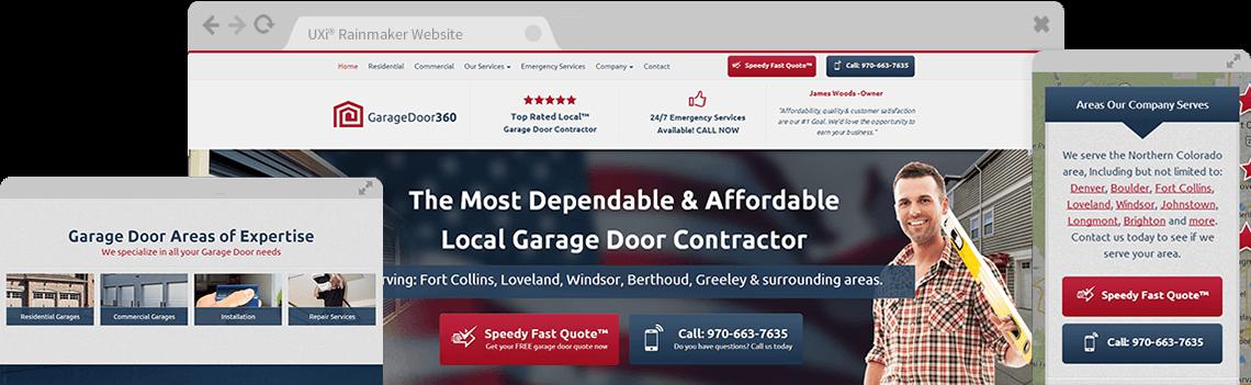 With User Experience Intelligence® you get simply the best garage door websites ever designed.  sc 1 st  Garage Door Marketing 360 & Website Designs for Garage Door Repair - Mobile Responsive Templates pezcame.com