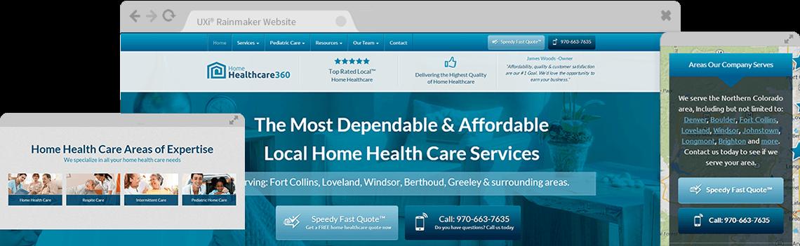 Home Health Care Website Templates - Mobile Responsive Designs