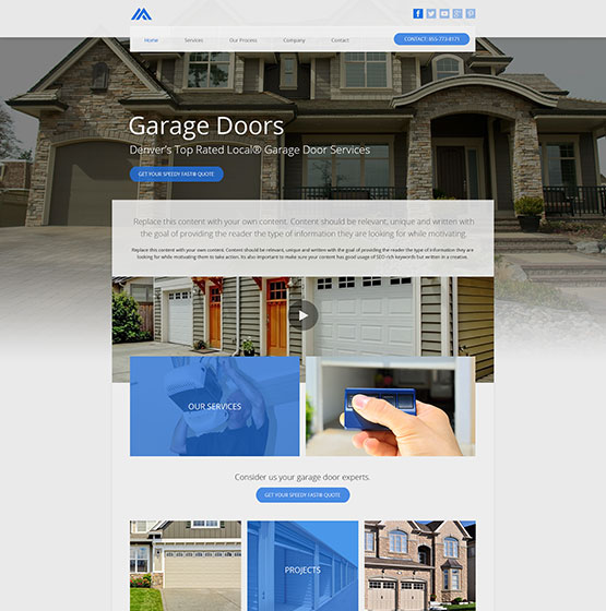 Design RM19040 & Website Designs for Garage Door Repair - Mobile Responsive Templates pezcame.com