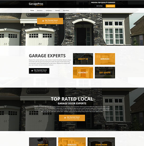Website Designs For Garage Door Repair
