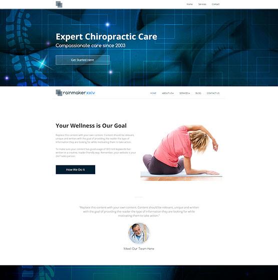 Chiropractic Websites Templates - Mobile Responsive Designs
