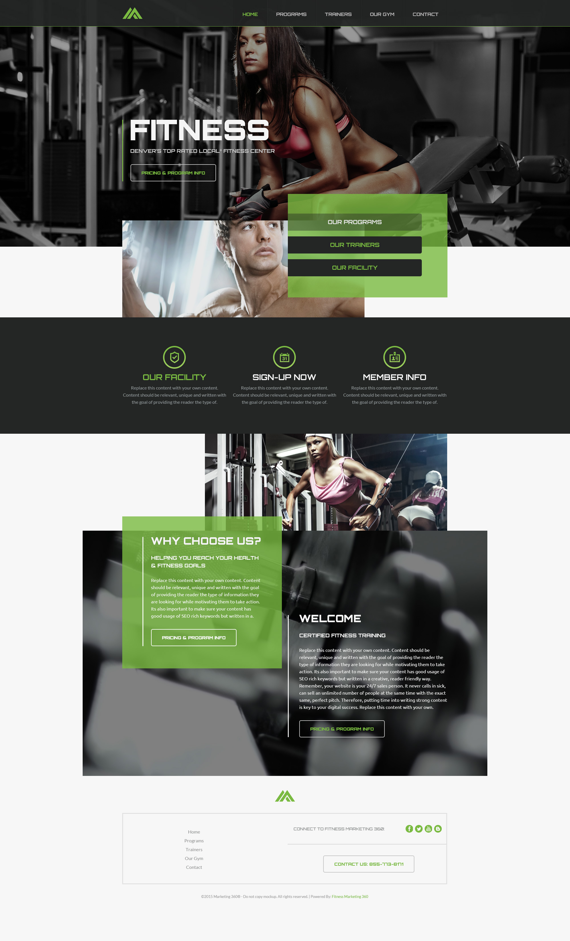 Fitness Website Templates - Mobile Responsive Designs for Fitness ...