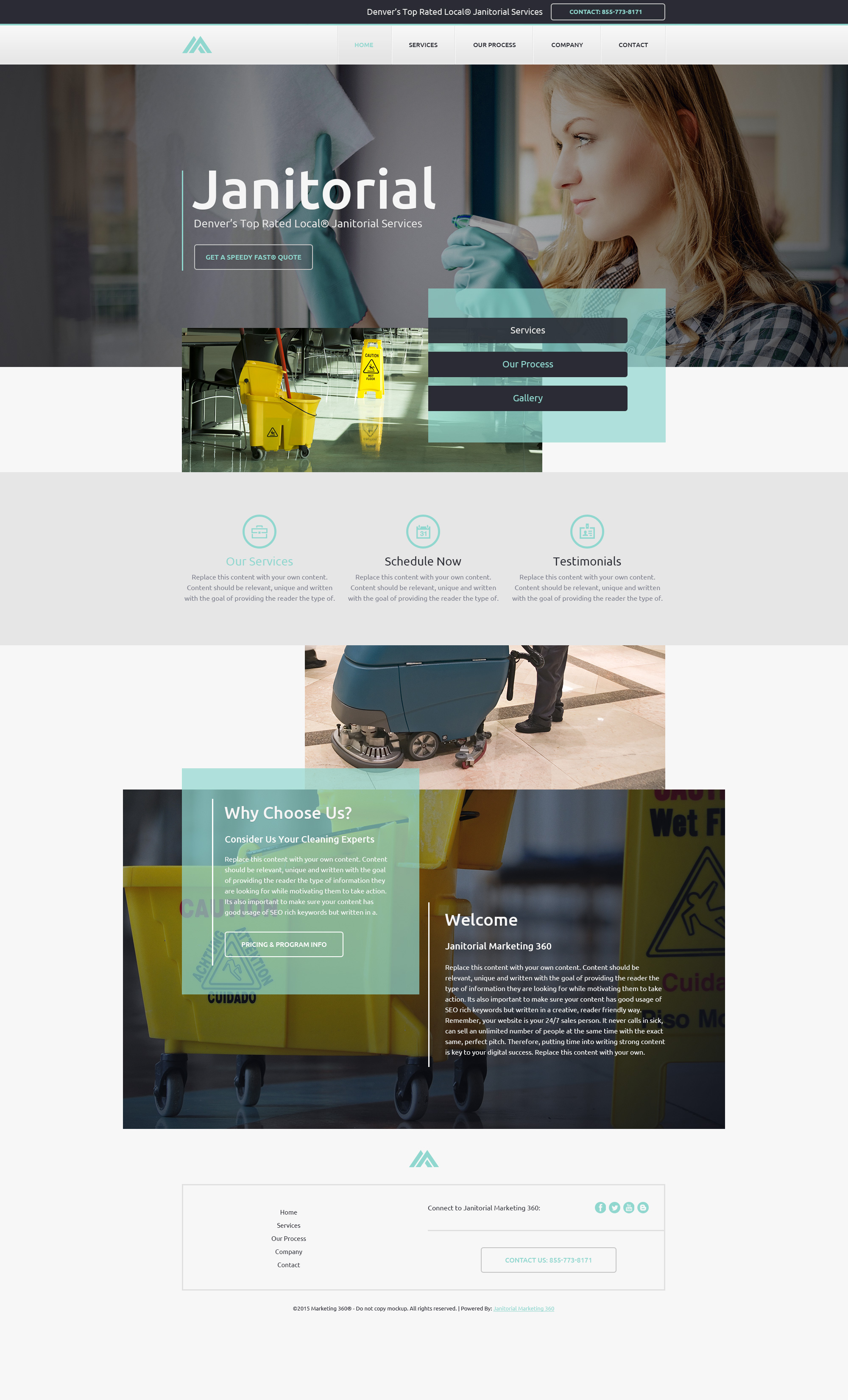 janitorial website templates cleaning services website template