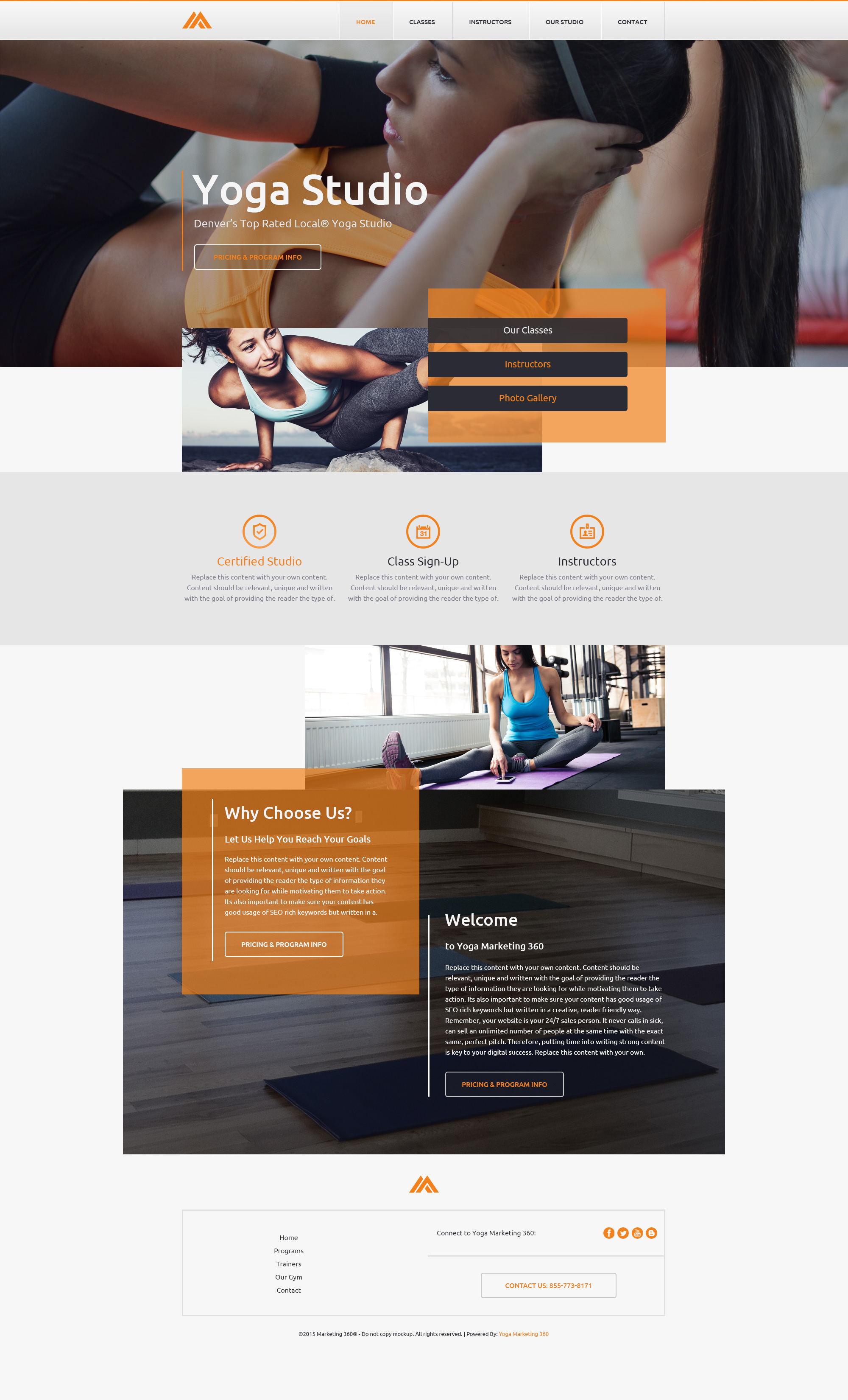 Yoga Websites Templates - Mobile Responsive Designs for Yoga Studios