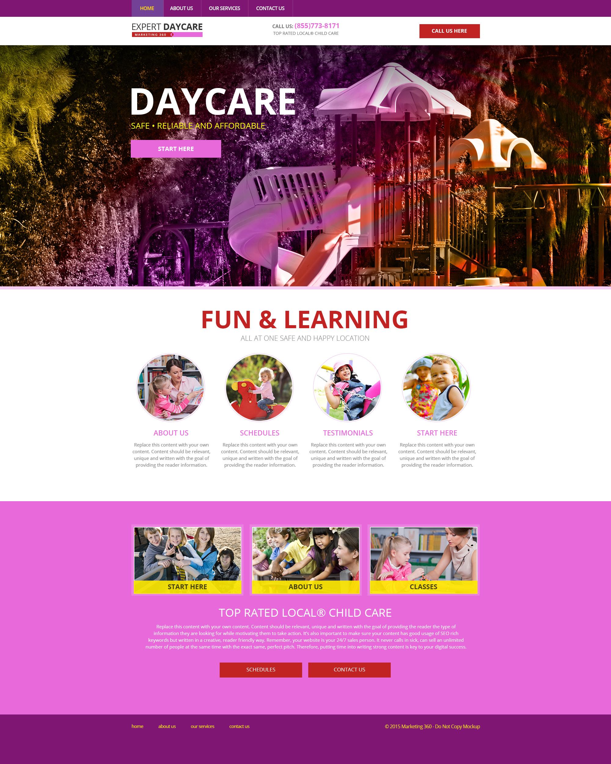 Child Care Website Templates