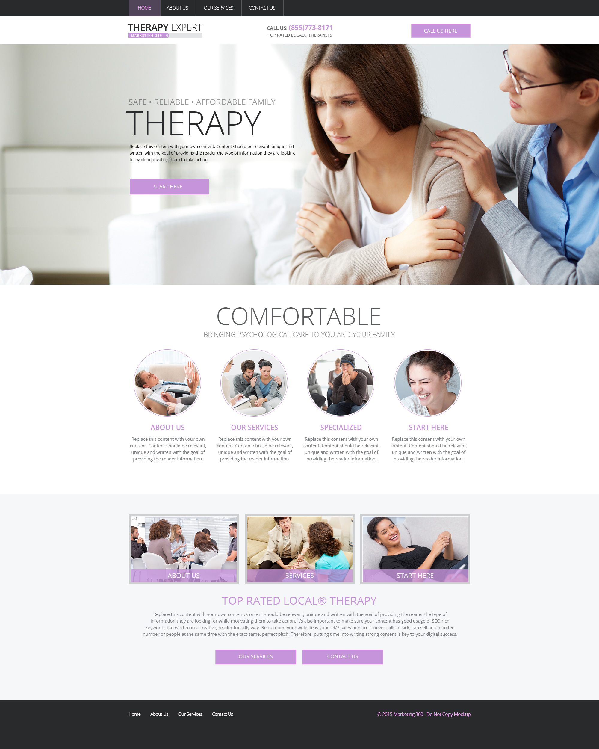 websites for therapists mobile responsive templates designs. Black Bedroom Furniture Sets. Home Design Ideas