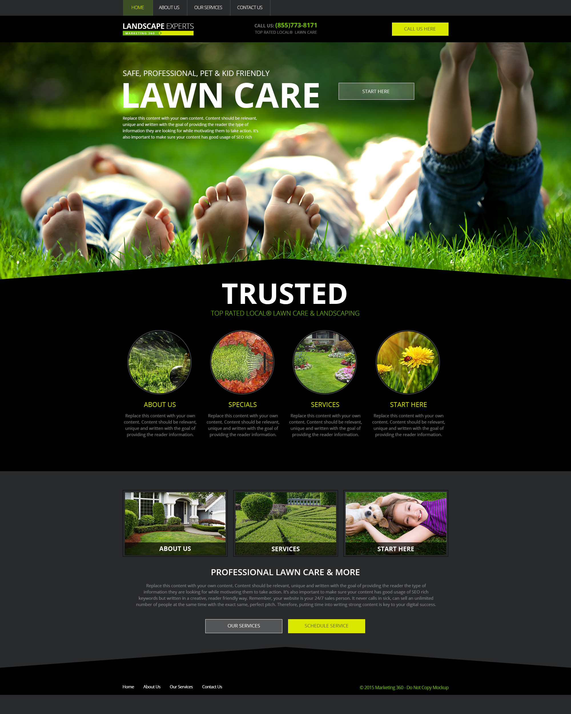 lawn mowing website template - Keni.candlecomfortzone.com