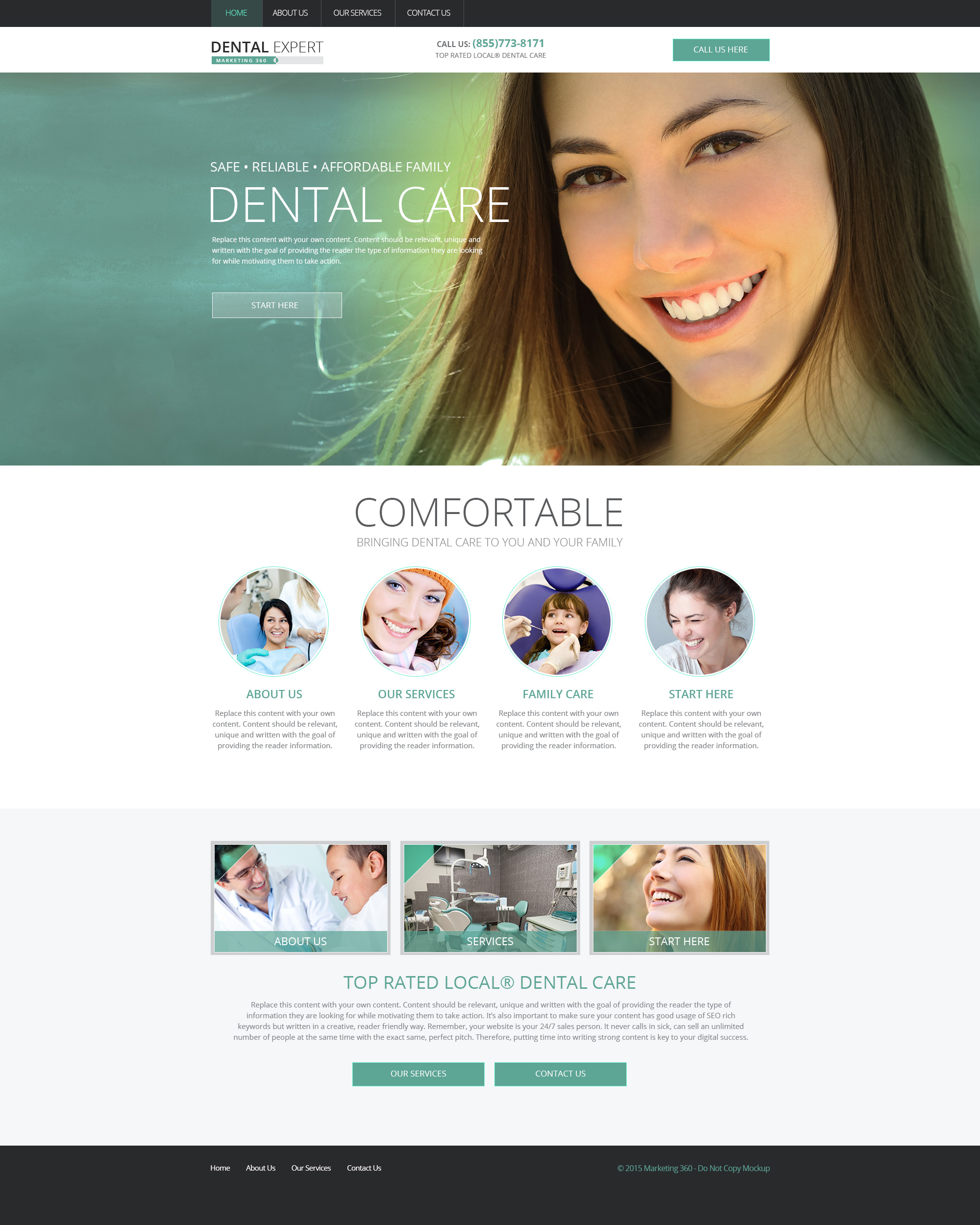 Dental Website Templates - Mobile Responsive Web Design for Dentists
