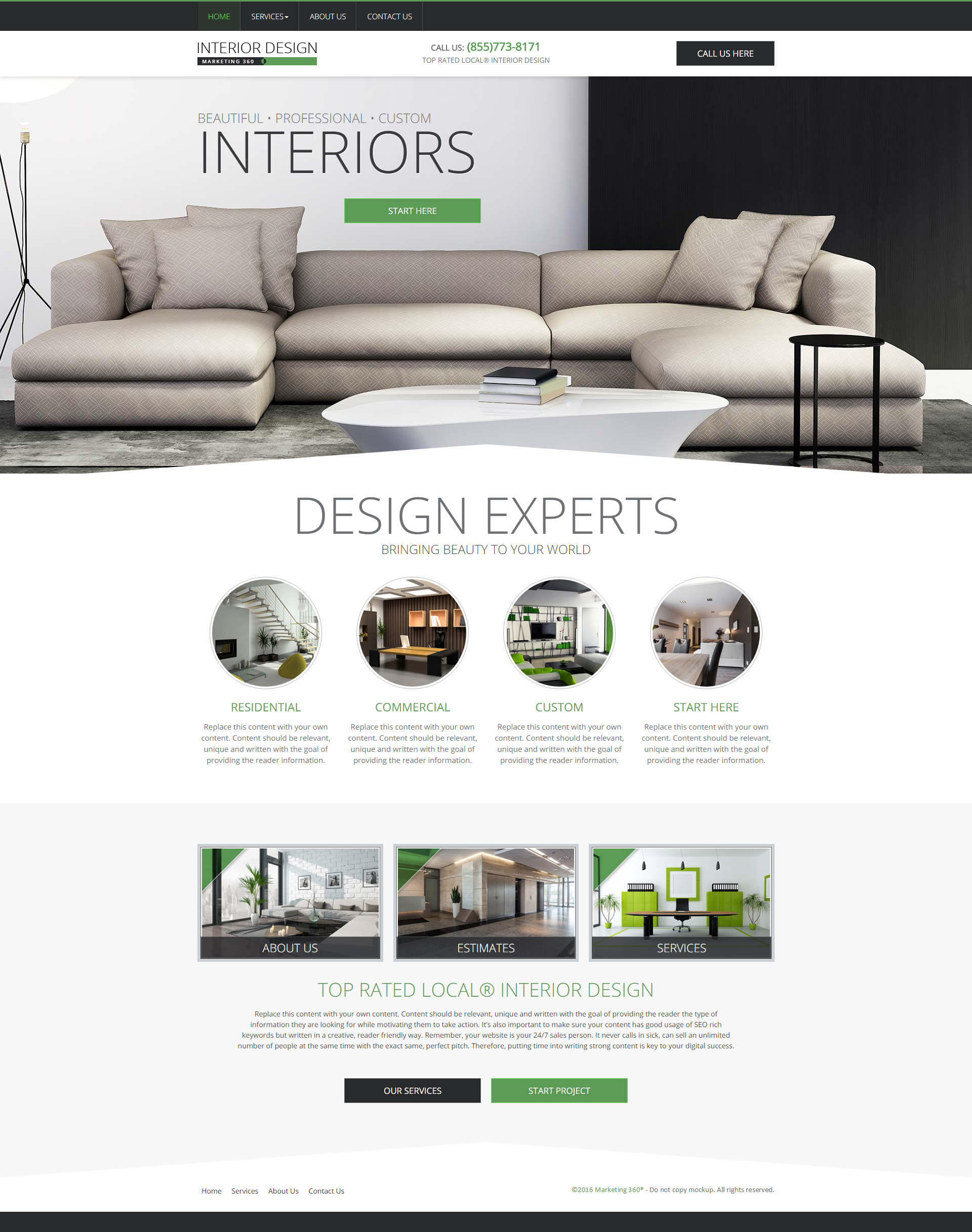 Interior design website templates mobile responsive web for Interior design sites