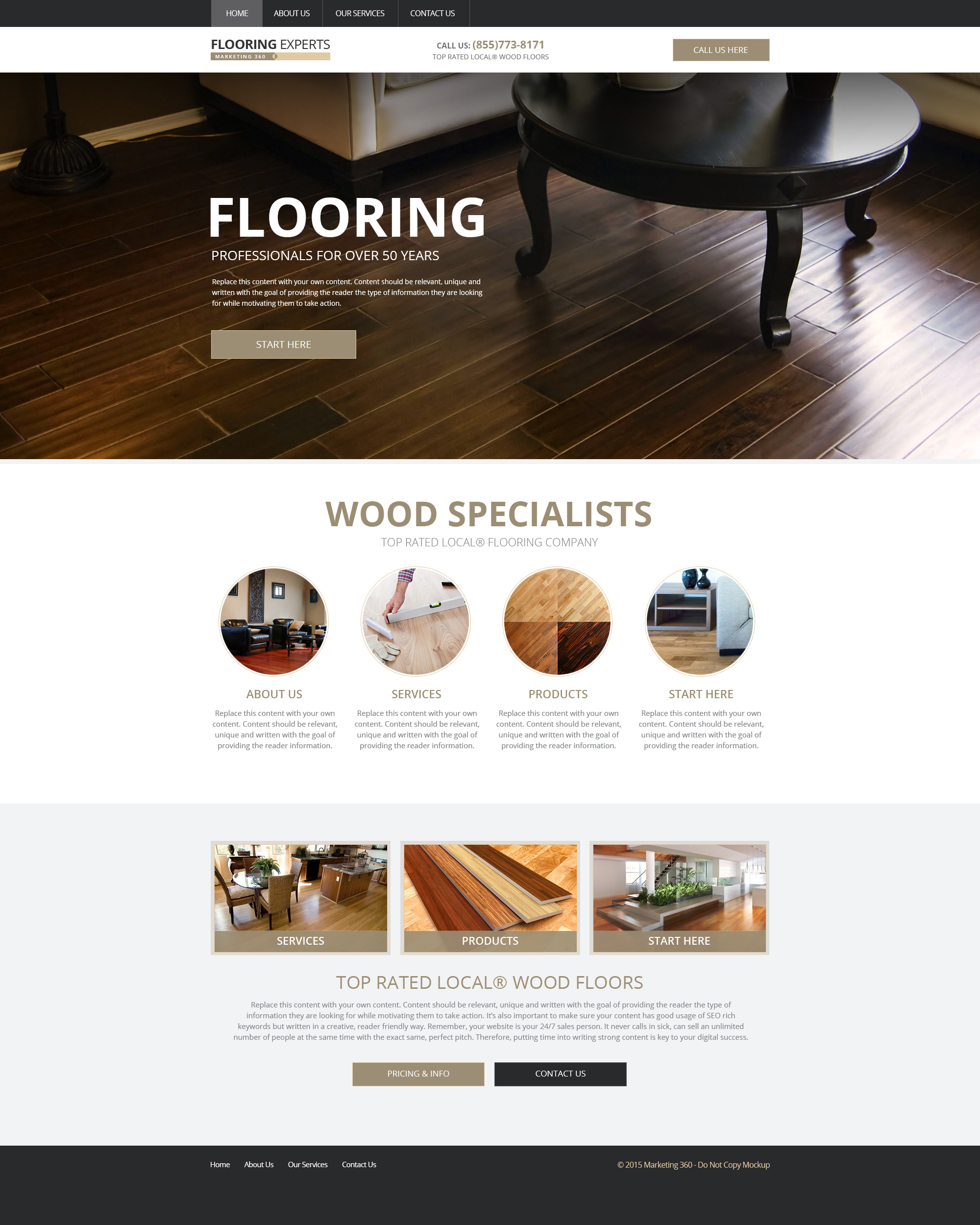 flooring website designs mobile responsive templates On flooring websites