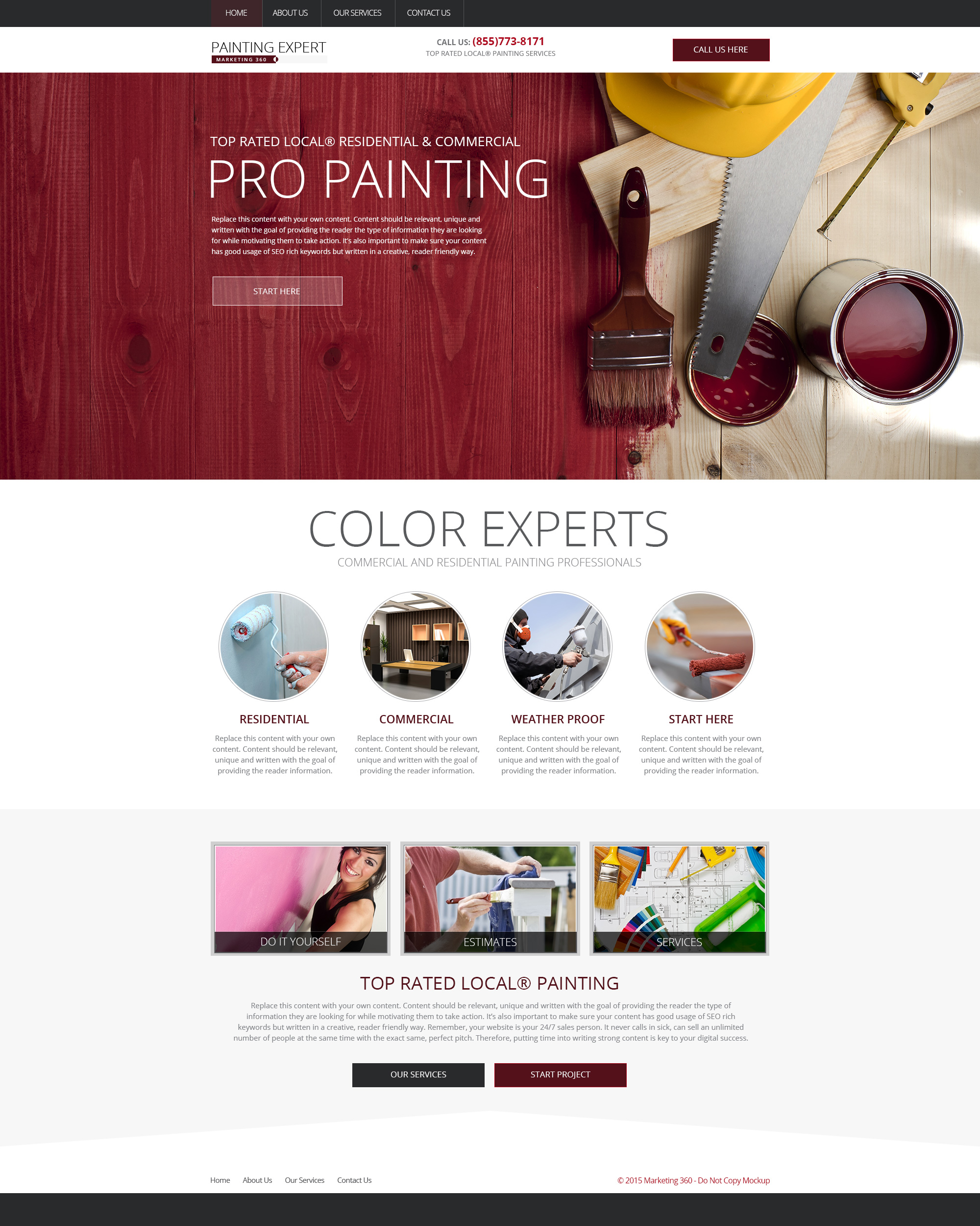 Painting websites mobile responsive designs for painters design rm18057 solutioingenieria Gallery