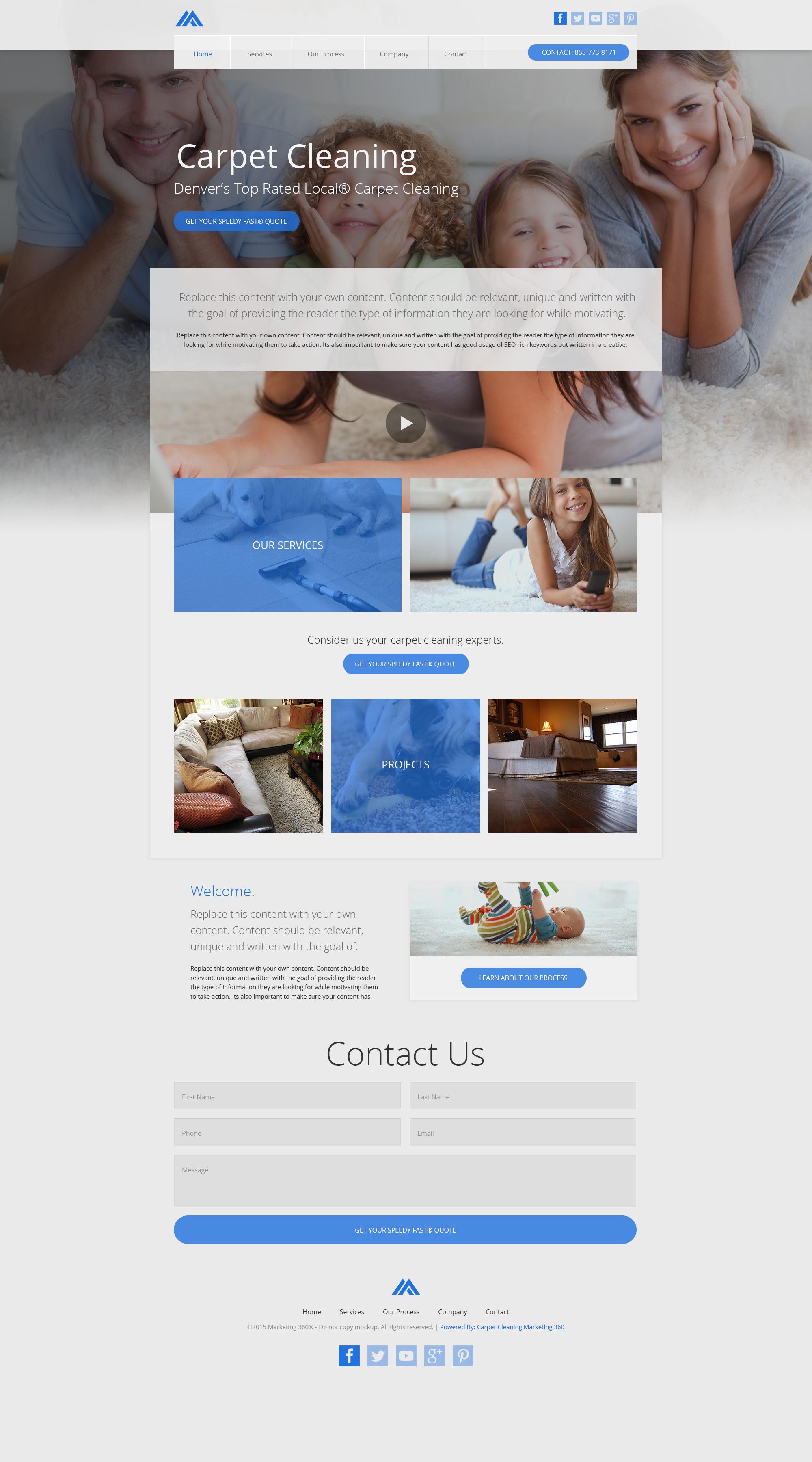 Carpet cleaning website templates mobile responsive designs design rm19005 baanklon Gallery