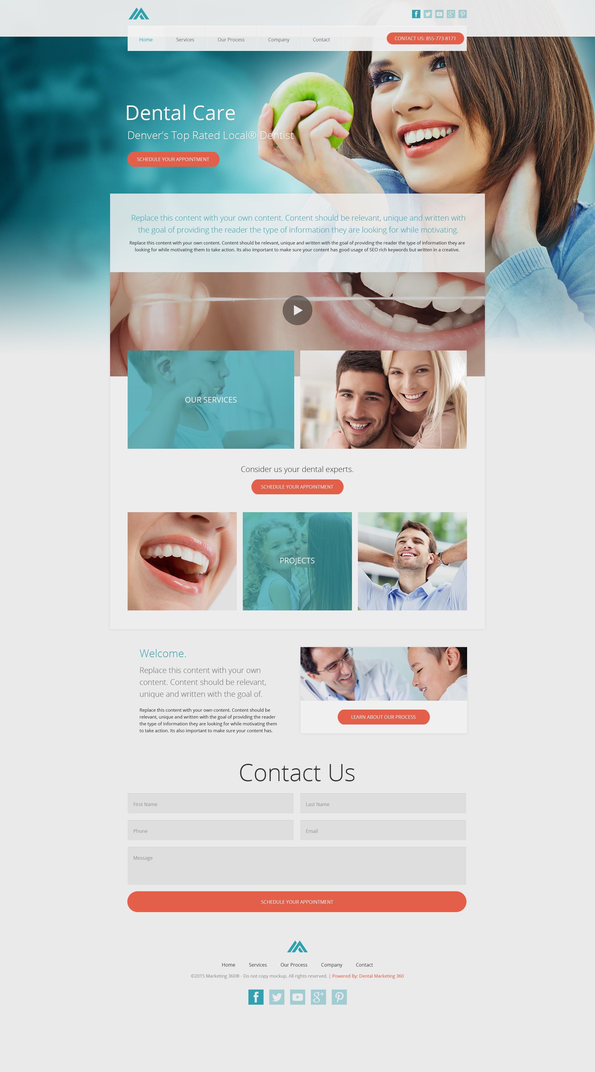 dental website templates mobile responsive web design for dentists. Black Bedroom Furniture Sets. Home Design Ideas