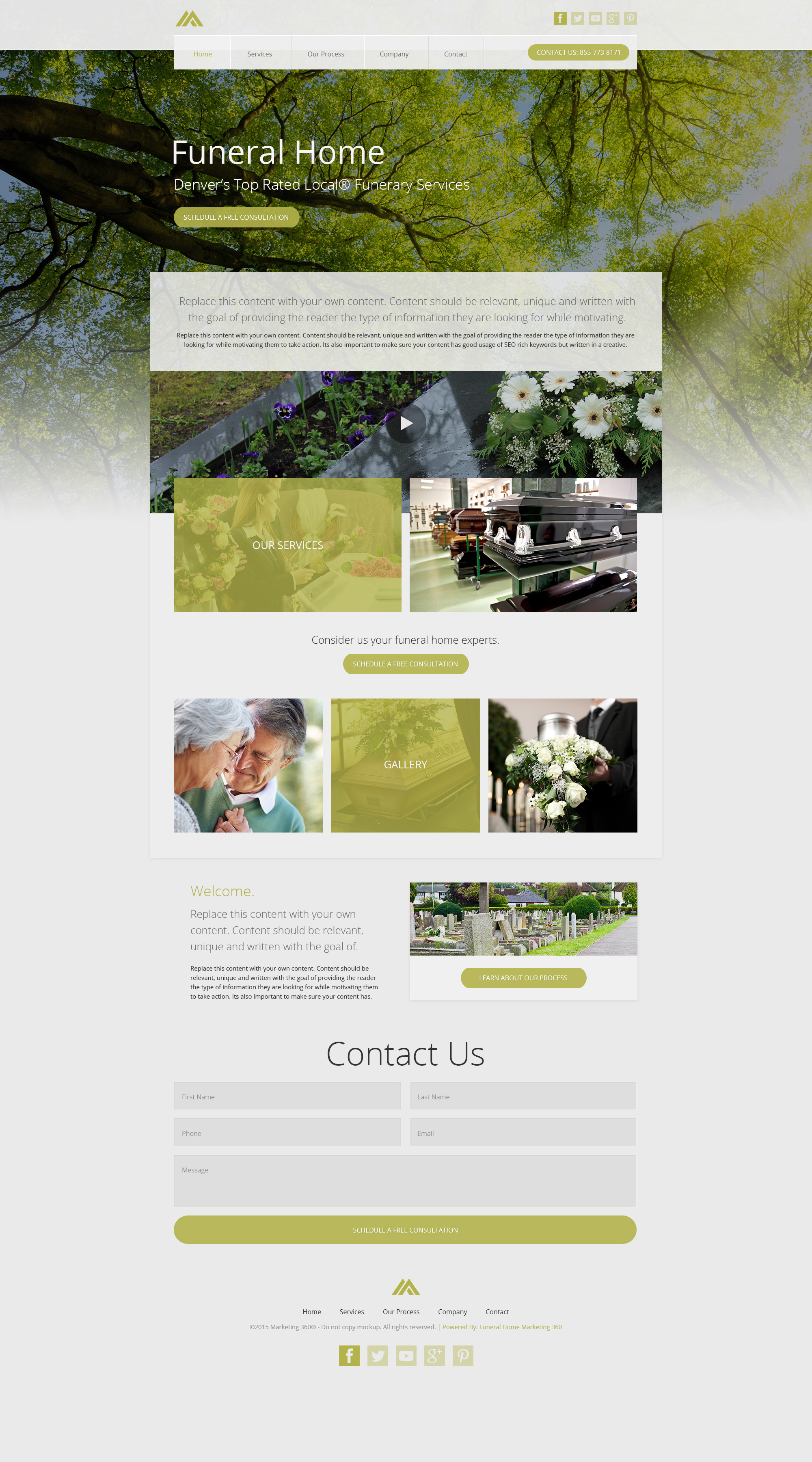 funeral home website templates mobile responsive designs. Black Bedroom Furniture Sets. Home Design Ideas