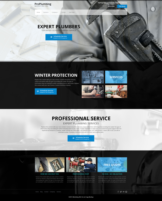plumbing website template mobile responsive designs for plumbers