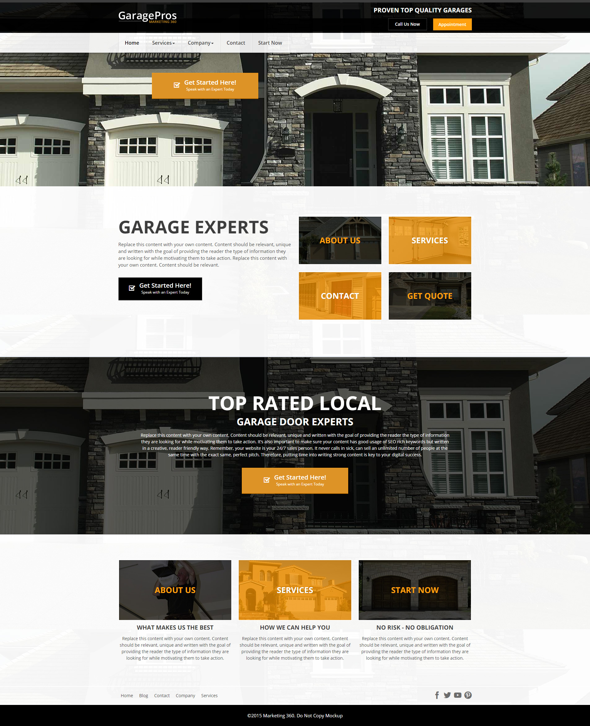 Design RM20040  sc 1 st  Garage Door Marketing 360 & Website Designs for Garage Door Repair - Mobile Responsive Templates