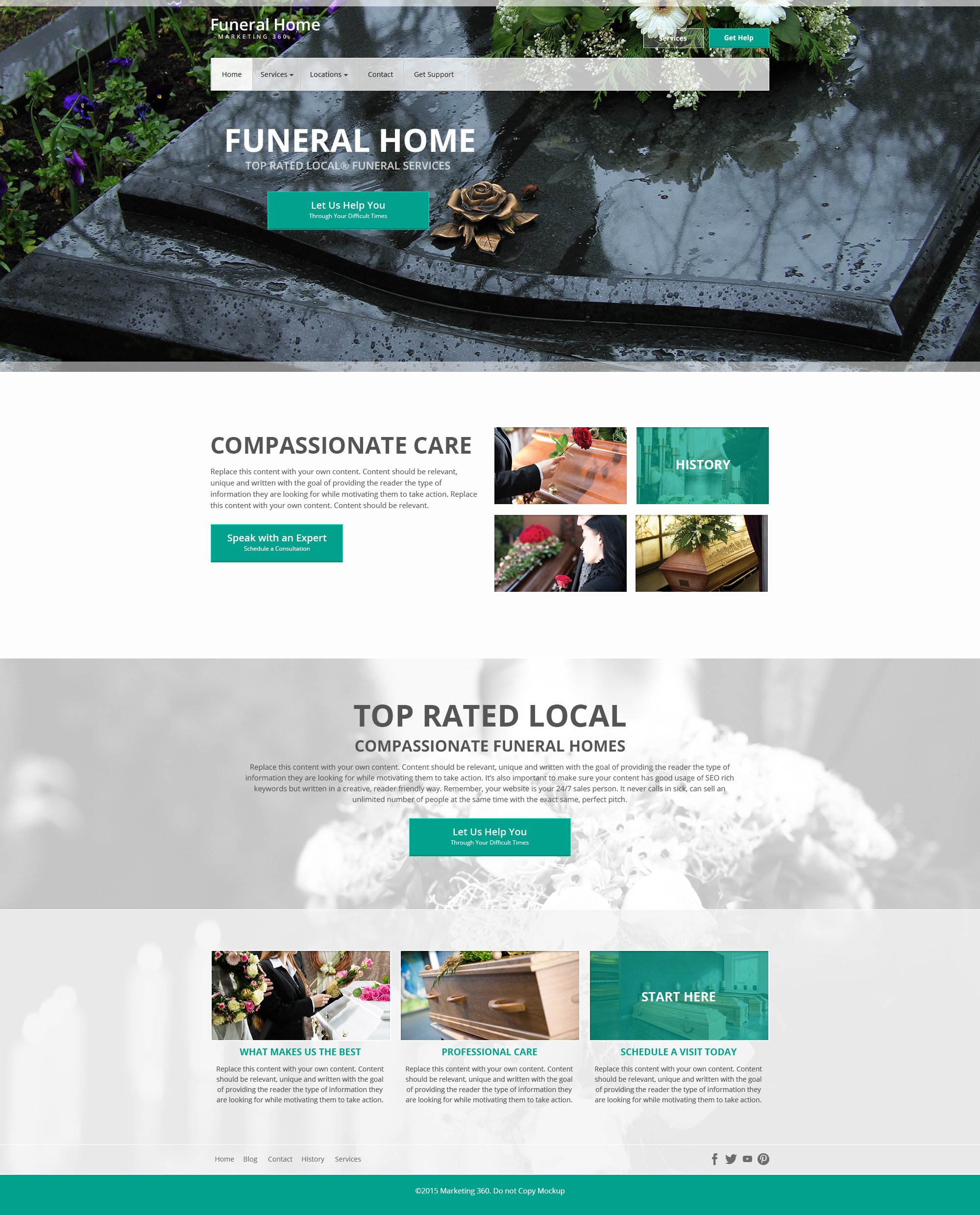 funeral home website templates - mobile responsive designs