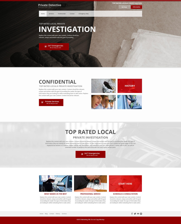 private investigator website template designs private. Black Bedroom Furniture Sets. Home Design Ideas