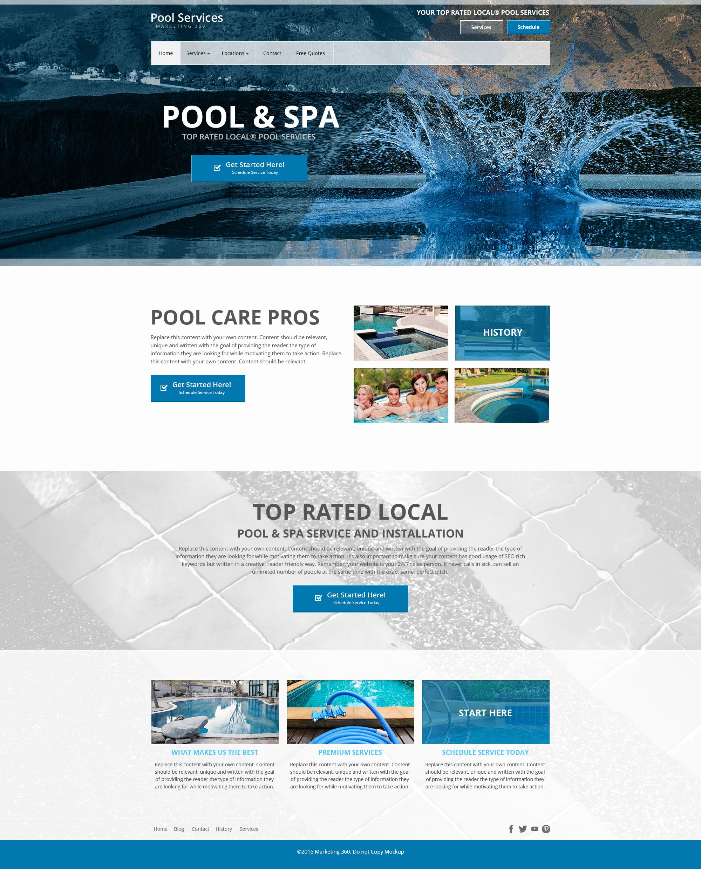 Pool website templates mobile responsive designs for for Pool design website