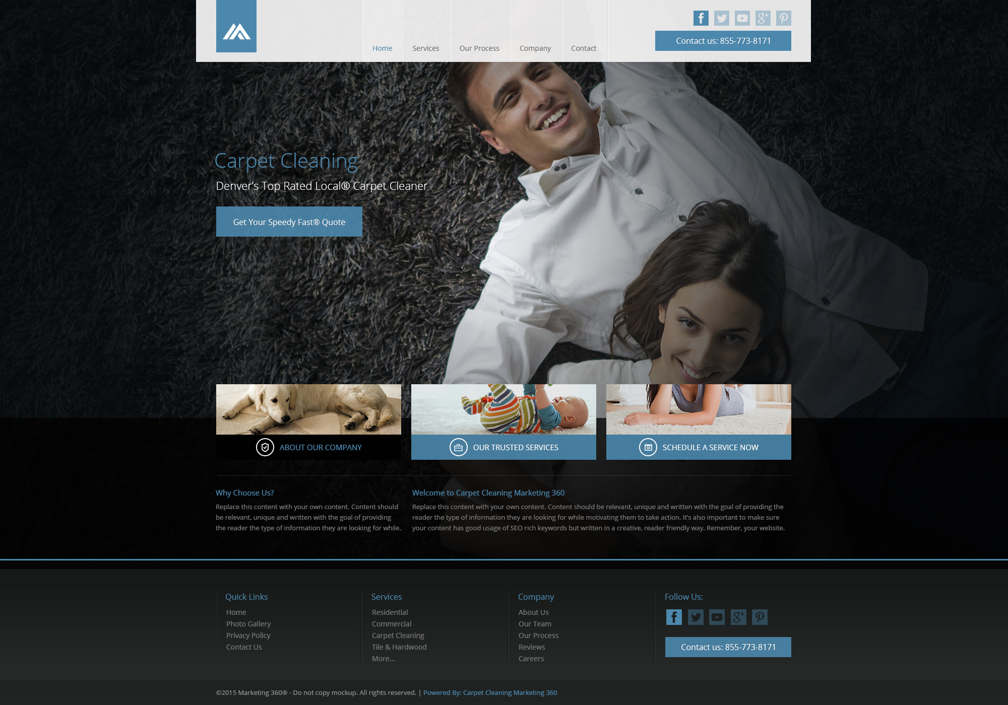 Nice Carpet Cleaning Website Template Pictures - Examples ...
