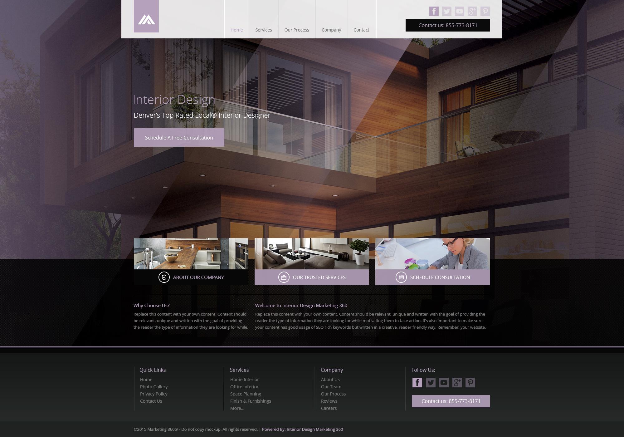 Interior Design Website Templates Mobile Responsive Web Designs
