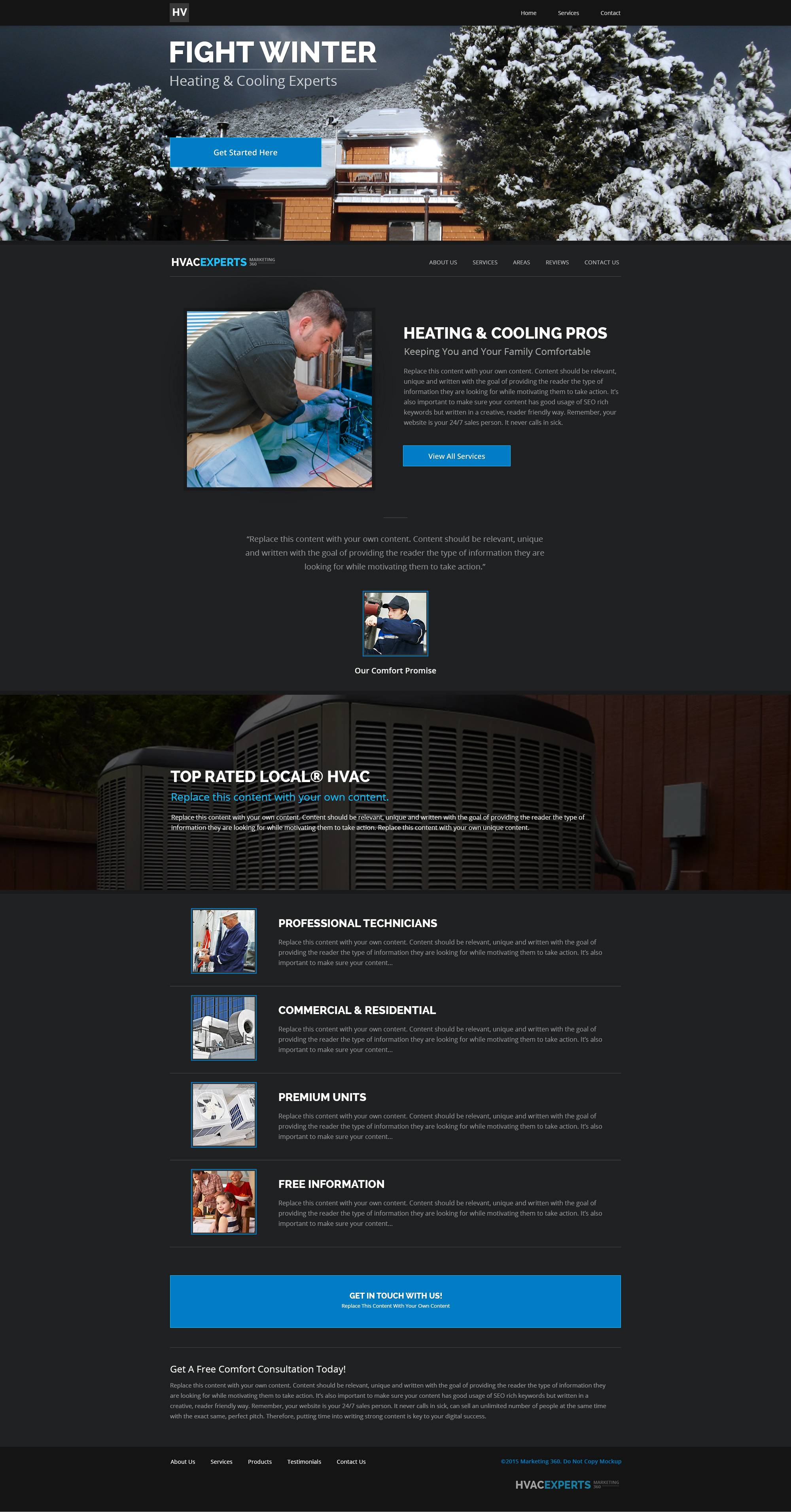 Free Hvac Website Templates Gallery - Template Design Ideas