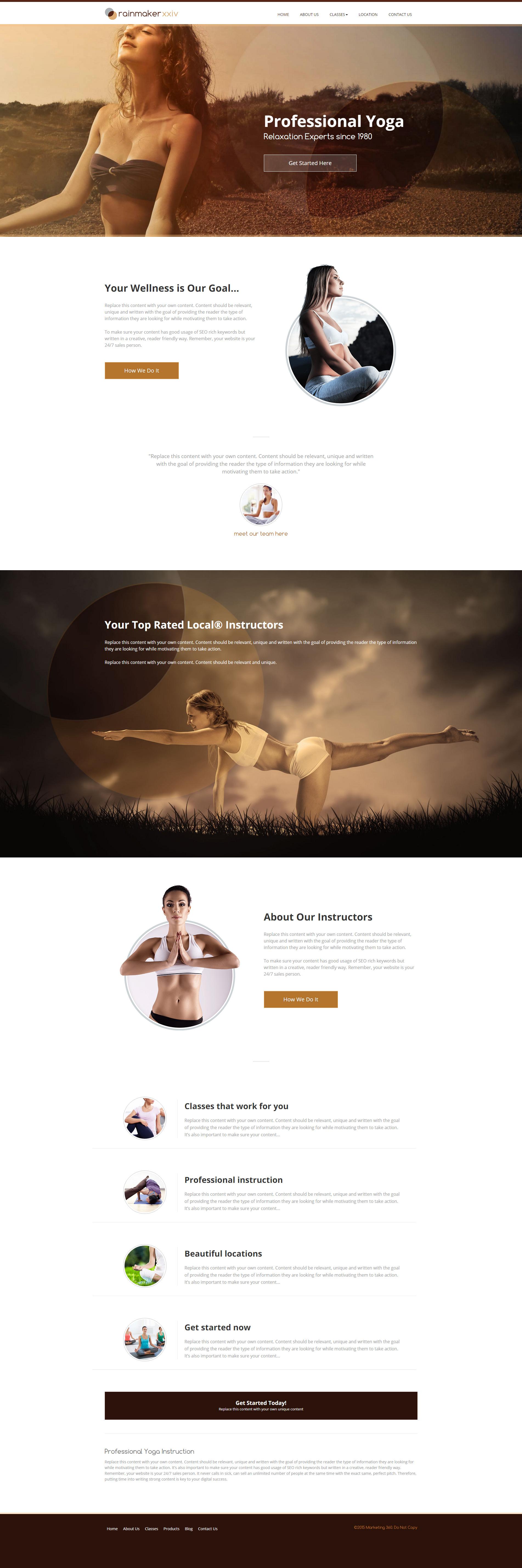 Yoga Websites Templates - Mobile Responsive Designs for Yoga Studios