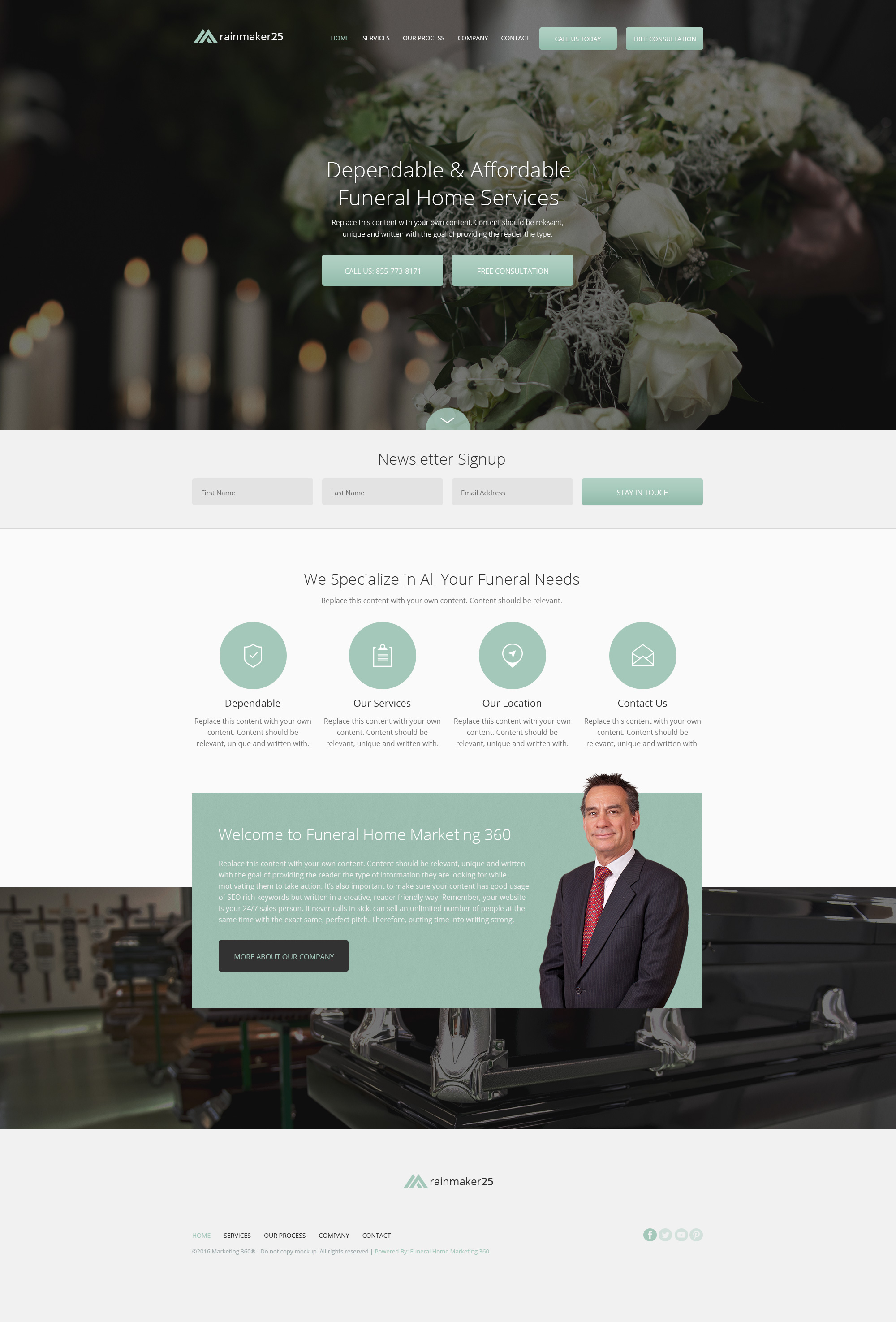 funeral home website templates mobile responsive designs