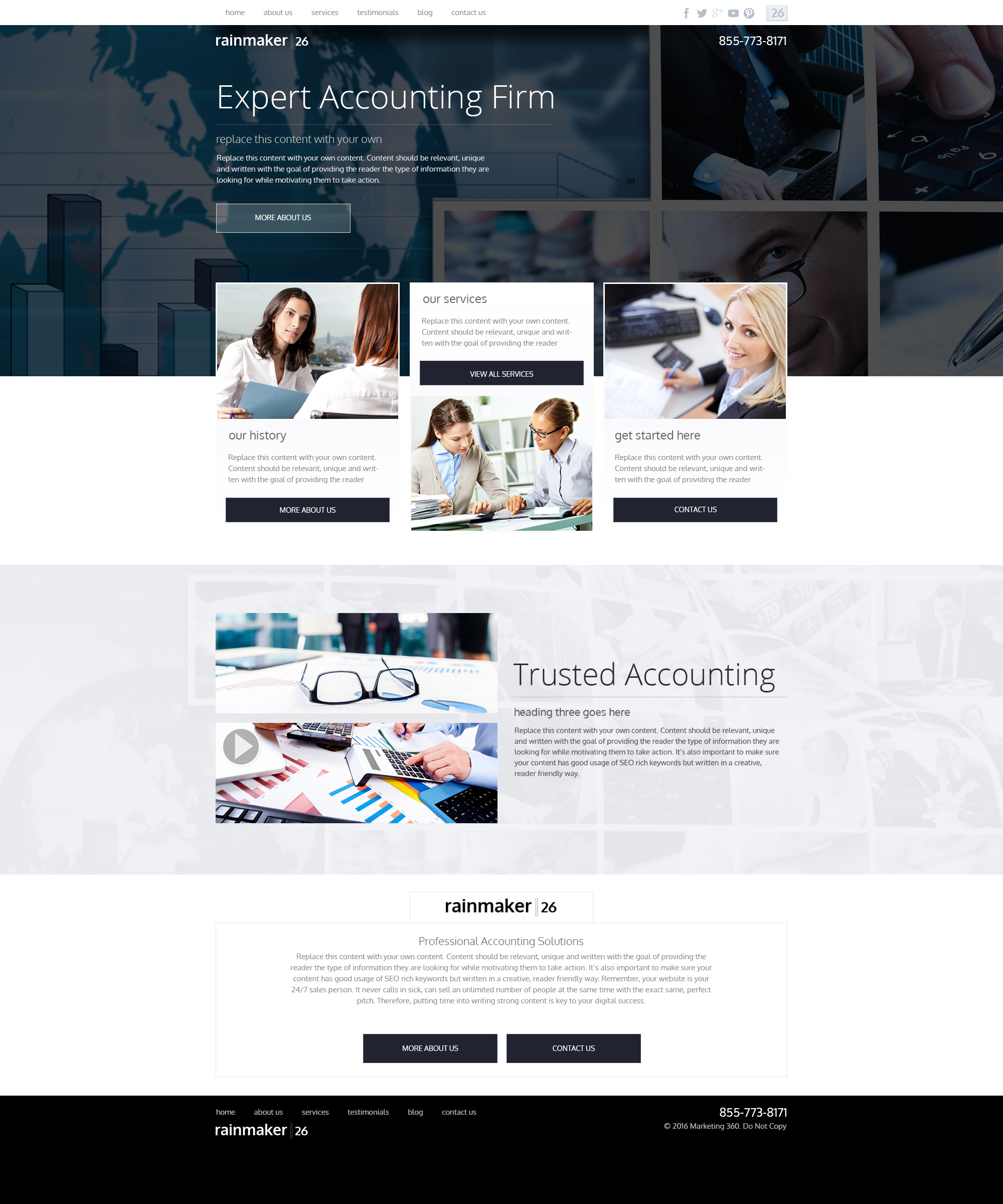 Accounting website templates website designs for accounts design rm26036 maxwellsz