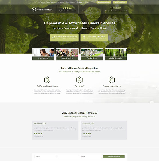 Design rm11043 - Funeral home web design ...