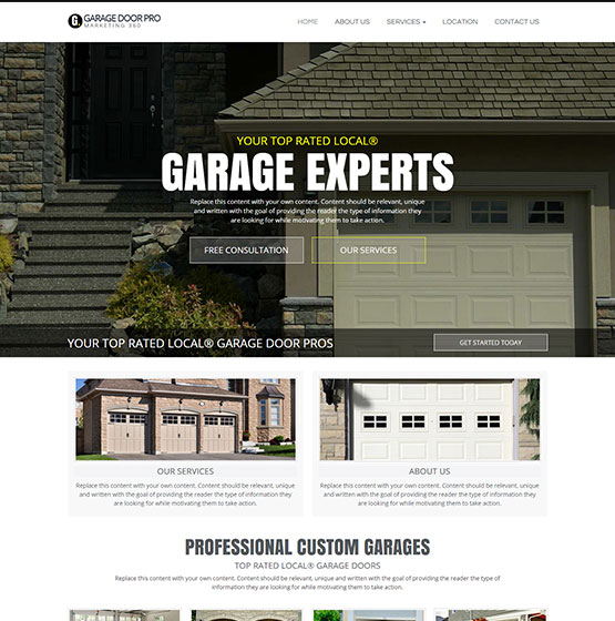 Role Of Garage Door In Garage Design: Website Designs For Garage Door Companies