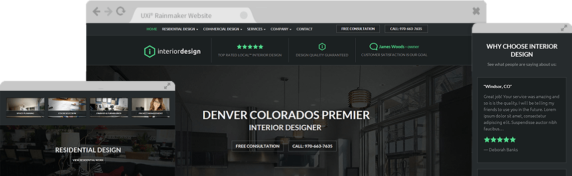 Interior design website templates mobile responsive web for Top interior design websites