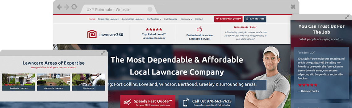 Lawn Care Websites Templates - Free Designs with Marketing 360®