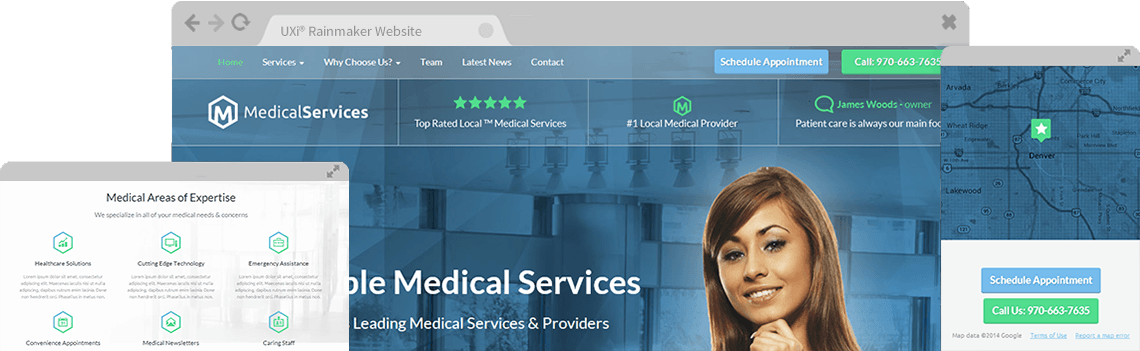 medical website templates - mobile responsive web designs for, Skeleton