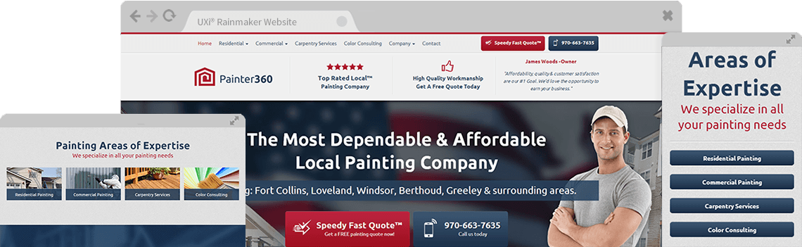 Painting Websites - Mobile Responsive Designs for Painters