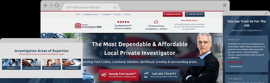 Private Investigator Website Template Designs - Private ...
